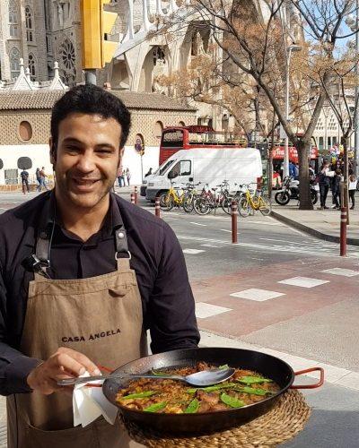 paella casa angela patatas bravas barcelona restaurantes alioli salsas