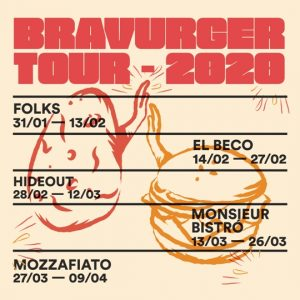 cartel bravurgertour bravas burger barcelona bravasbcn